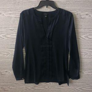 Ann Taylor | Polished Black Panel Blouse (S)